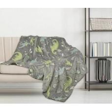 Glow in the Dark Dinosaur Fleece Blanket