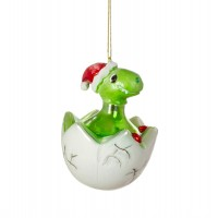Newly Hatched T-rex Glass Bauble