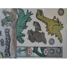 Dinosaur Height Chart and Wall Stickers  Set