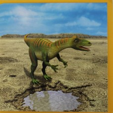 Allosaurus Birthday Card