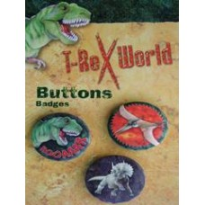 Dinosaur T-rex Badges Pack