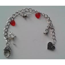 Dinosaur Hearts Charm Bracelet