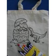 Colour-a-Dinosaur Mini Bag & Crayons