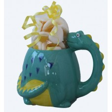 Diplodocus Mug with Haribo Fried Eggs
