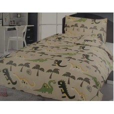 Economy Dinosaur Duvet Cover Set - Single Size
