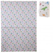Dinosaur Origami Gift Wrap DOUBLE Sheet