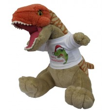 Happy Christmas Dinosaur Cuddly Toy