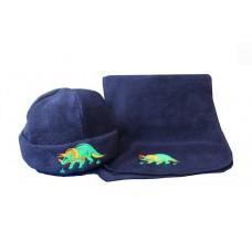 Fleece Dinosaur Hat and Scarf Set