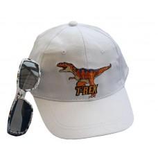 T-rex Baseball Cap and Sunglasses Set