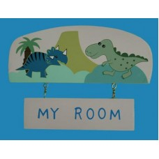 Cute Dinosaurs Door Sign - My Room