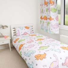 Dinosaur Pastel Duvet Cover Set - Single