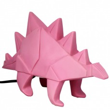 Pink Stegosaurus Origami Table Lamp