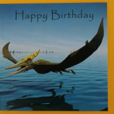 Pteranodon Birthday Card
