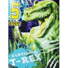 T-rex Birthday Card - 5 TODAY