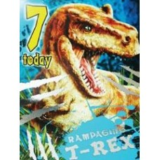 T-rex Birthday Card - 7 TODAY