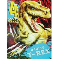 T-rex Birthday Card - 4 TODAY