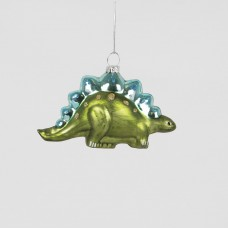 Stegosaurus Glass Christmas Tree Decoration