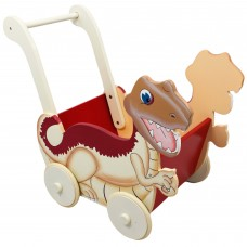 Dinosaur Wooden Push Cart