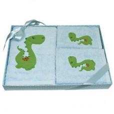 Dinosaur Cotton Towel Gift Set - 3 Piece