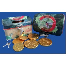 T-rex Treasure Chest & Chocolate Coins