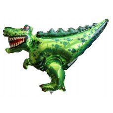 T-rex Air-Filled Balloon on Stick