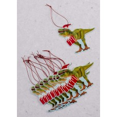 T-rex Christmas Gift Tag - Pack of 10