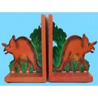 Triceratops Wooden Book Ends