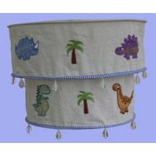 Dinosaur Two Tiered Fabric Lampshade
