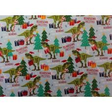 T-rex Xmas Gift Wrap Roll 10m