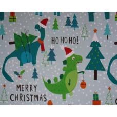 Dinosaur Christmas Gift Wrap Roll 10m