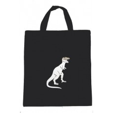 Silver T-rex Canvas Shopper