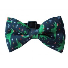Dinosaur Christmas Bow Tie