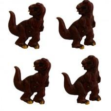 Dinosaur Buttons - Brown T-rex  20mm