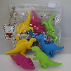 3D Dinosaur Eraser Set
