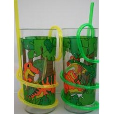 Dino Fun Cup with Curly Straw