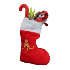 Filled Dinosaur Christmas Stocking
