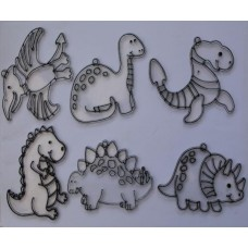 Dinosaur Sun Catchers/Christmas Tree Decorations