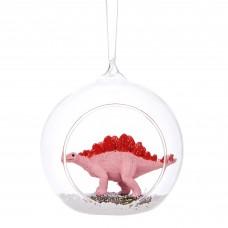 Stegosaurus Glass Open Bauble